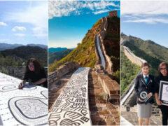 Самый длинный рисунок в мире был создан на Великой Китайской стене