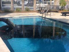 Водитель случайно искупал машину в бассейне отеля
