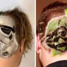 Парикмахер делает потрясающие стрижки фанатам «Звёздных войн»
