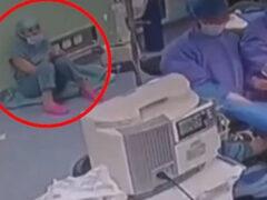 Сотрудникам больницы пришлось оказывать помощь своей коллеге