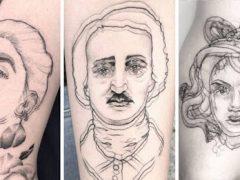 Художница делает татуировки со странным оптическим эффектом