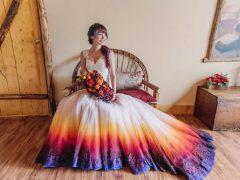 Невеста в необычном наряде открыла свой бизнес по покраске свадебных платьев