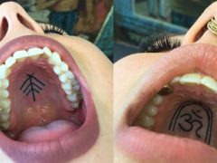 Мастер татуировки прославился «тайными» рисунками, наносимыми на нёбо клиентов