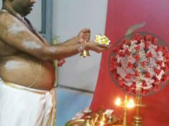 Верующие, считающие коронавирус богиней, молятся об окончании пандемии