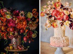 Свадебные торты, похожие на роскошные букеты цветов, восхитят любого сладкоежку