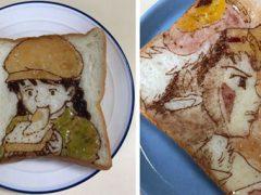 Бутерброды в руках художника превращаются в произведения искусства
