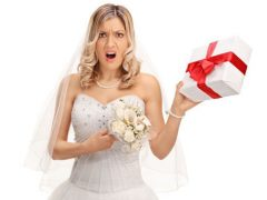 Невесте не слишком понравилась полученная в подарок корзина с лакомствами