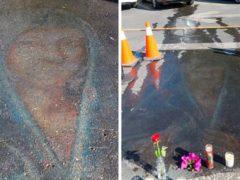 Изображение Девы Марии, нарисованное мелом, проявилось спустя 13 лет после создания