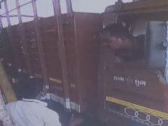 Разгневавшийся водитель грузовика вооружился саблей
