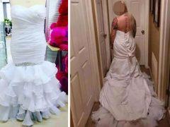 Покупательница оконфузилась из-за платья, вывернутого наизнанку
