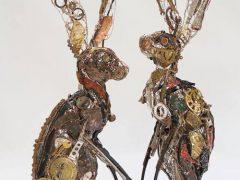 Животные в стиле стимпанк сделаны из мусора