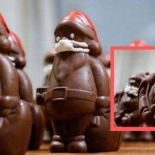 Шоколадные Санты получают от кондитера защитные маски