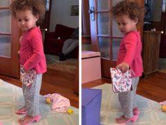 Юная принцесса выяснила, что туфли на каблуках не так уж удобны