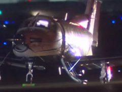 Домовладельцев удивила часть самолёта, упавшая к ним на лужайку