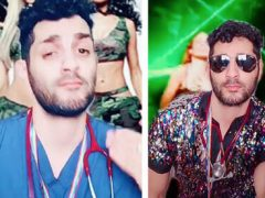 Танцующий доктор призывает людей сделать прививку от коронавируса