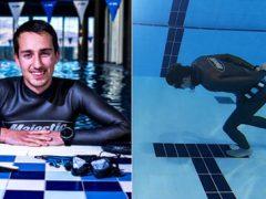 Дайвер прошёл под водой 96 метров и попал в Книгу рекордов Гиннеса