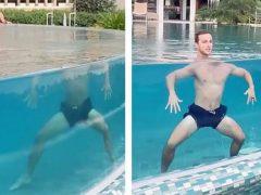 Из-за оптической иллюзии голова купальщика отделилась от тела