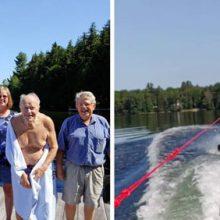 Дедушка, прокатившийся на водных лыжах, попал в Книгу рекордов Гиннеса