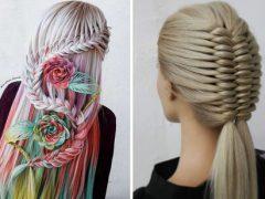 Фантастические причёски заворожат всех, кому нравятся плетение и косы