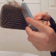 Люди удивились, узнав, как часто нужно чистить щётку для волос