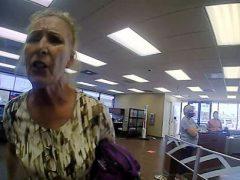 Вместо защитной маски клиентка банка оказалась в наручниках