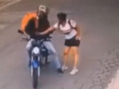 Грабитель польстился на чужой телефон, но был побит