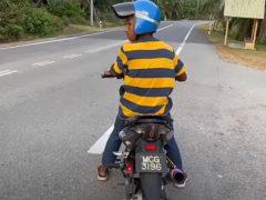 Поездка на мотоцикле получилась непродолжительной, но драматичной