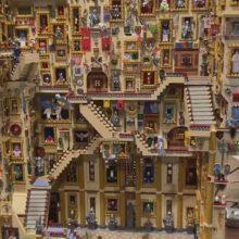 В школе волшебства, сделанной из «LEGO», не забыты даже движущиеся лестницы