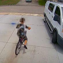 Камера видеонаблюдения помешала краже велосипеда