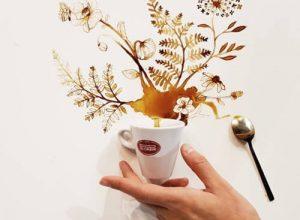 Случайно пролив кофе, художница открыла новые творческие горизонты